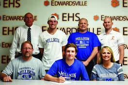 EHS senior Jack Marinko, seated center, will play college basketball for Millikin University in Decatur.