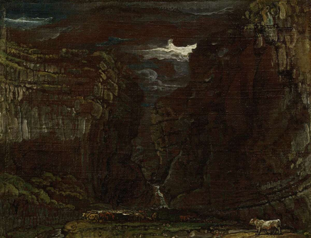 Ward, Sketch for Gordale Scar. (Thomas Cole National Historic Site)