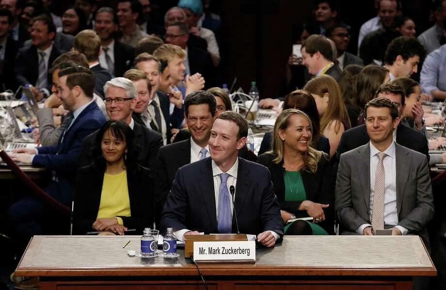 Facebook co-founder, Chairman and CEO Mark Zuckerberg testifies before a combined Senate Judiciary and Commerce committee hearing in the Hart Senate Office Building on Capitol Hill April 10, 2018. Photo: Pool /Getty Images / 2018 Getty Images