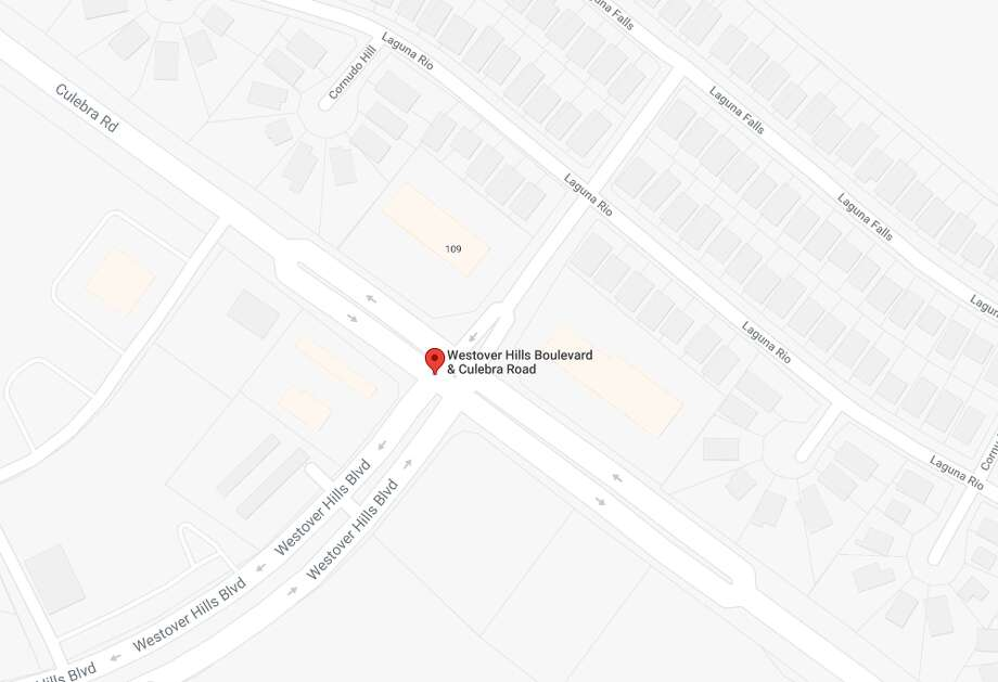 An accident involving a UHAUL truck and a Via Transit bus shut down the westbound lanes of Culebra Road near Westover Hills Boulevard on May 25, 2018. Photo: Google Maps