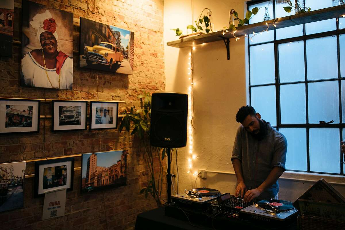 Gil Braga plays a DJ set at The Station in San Luis Obispo, Calif., Friday, May 18, 2018.