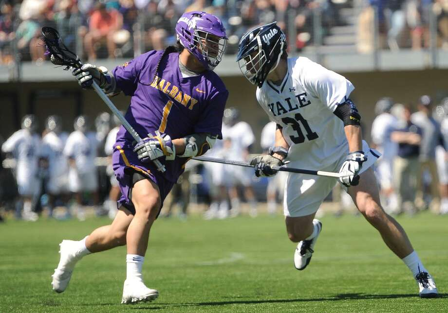 Yale and Albany will face off in a men's lacrosse national semifinal game on Saturday in Foxborough, Mass. Photo: Brian A. Pounds / Hearst Connecticut Media / Connecticut Post