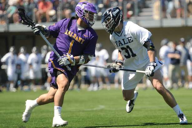 Yale and Albany will face off in a men's lacrosse national semifinal game on Saturday in Foxborough, Mass.