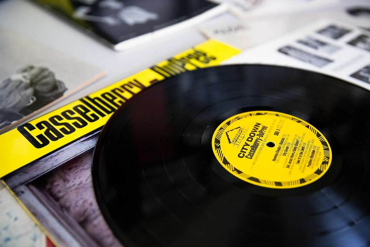 An original vinyl record of Casselberry-DuPree sits on a folding table amongst other books and pamphlets in Oakland, Calif. on Saturday, May 19, 2018. The Bay Area Lesbian Archives (BALA) is run by Lenn Keller, Rebecca Silverstein and Sharon Davenport. All three women are compiling their own memorabilia from the Bay Area lesbian community of the 1970's and 80's as well as receiving donations from others in the Bay Area. Everything from original vinyl records and shirts to pamphlets, flyers and weekly lesbian run newspapers are a part of the growing collection.
