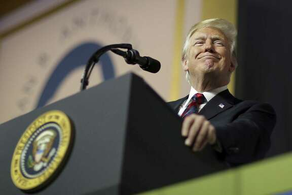 President Donald Trump delivers remarks during the Susan B Anthony List gala at the National Building Museum on May 22 in Washington, DC. Trump is the first sitting president to speak at the anti-abortion organization's annual dinner.