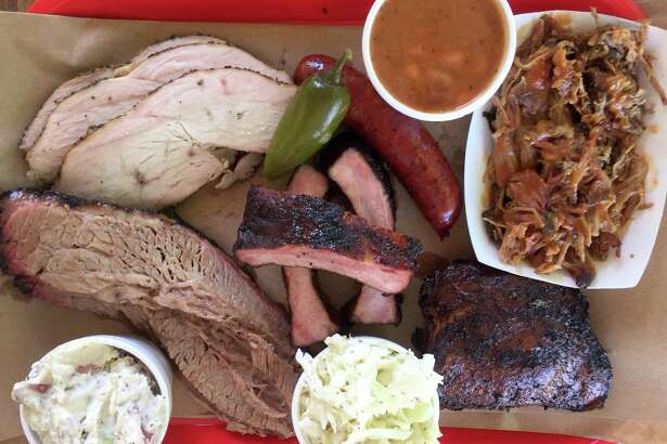Selection of meats and sides from Alamo BBQ Co.