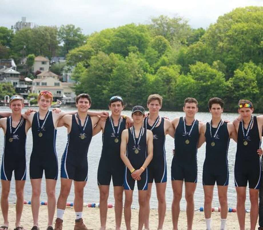 Greenwich Crew men's varsity eight boat captured the first-place medal at the USRowing Youth Nationals last week. Photo: Contributed Photo / Stamford Advocate Contributed