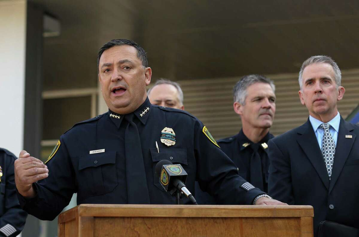 Houston Police Chief Art Acevedo talks about the ATF?'s mobile National Integrated Ballistic Information Network (NIBIN) van Thursday, April 19, 2018, in Houston. The ATF Houston Field Division and the Houston Police Department unveiled the NIBIN van Thursday. Police hope the unit will help them respond to shooting cases more quickly, and is part of an effort by the federal agency to help local municipalities crack down on gun crime. ( Godofredo A. Vasquez / Houston Chronicle )