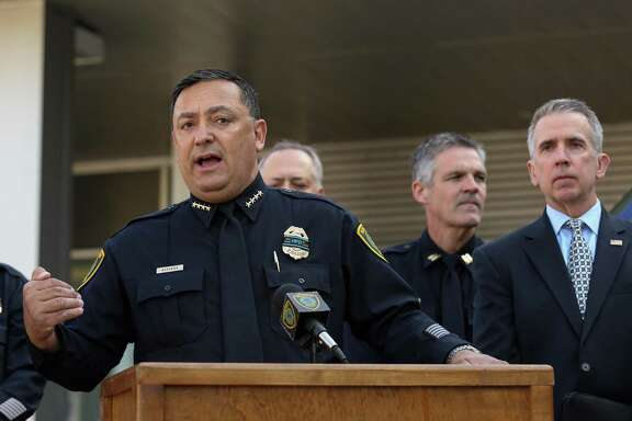 Houston Police Chief Art Acevedo talks about the ATF's mobile National Integrated Ballistic Information Network (NIBIN) van Thursday, April 19, 2018, in Houston. The ATF Houston Field Division and the Houston Police Department unveiled the NIBIN van Thursday. Police hope the unit will help them respond to shooting cases more quickly, and is part of an effort by the federal agency to help local municipalities crack down on gun crime. ( Godofredo A. Vasquez / Houston Chronicle )