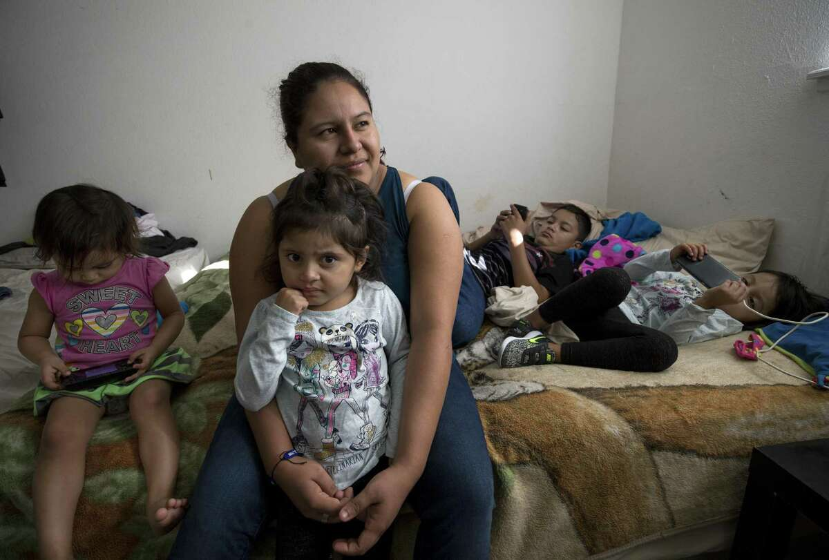 Once parents are separated from their children, it can be difficult to find them. Silvia Torres crossed the border in a different group from her husband who was carrying their twin daughters. The husband was detained and deported, while the twins were placed in a foster shelter. Torres did not know where the twins were until a lawyer in the detention facility where she was detained tracked them down two weeks later. ( Godofredo A. Vasquez / Houston Chronicle )