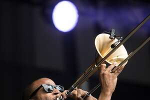 Trombone Shorty & Orleans Avenue performs on the Jam Cellars stage during the first day of Bottle Rock Music Festival in Napa, Calif. Friday, May 25, 2018