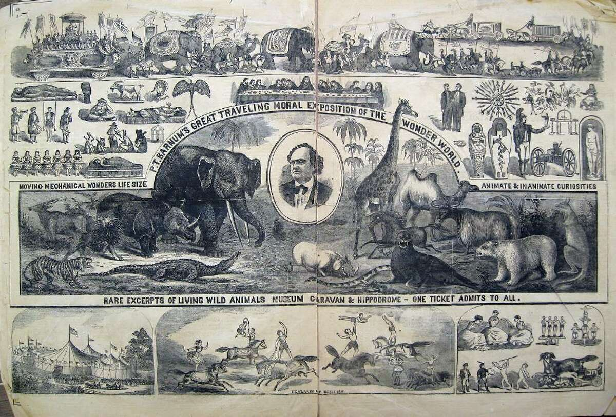 B is for Barnum ...As in P.T. Barnum, born in Bethel in 1810, is remembered for starting the Barnum and Bailey Circus. He built his business on hoaxes like the