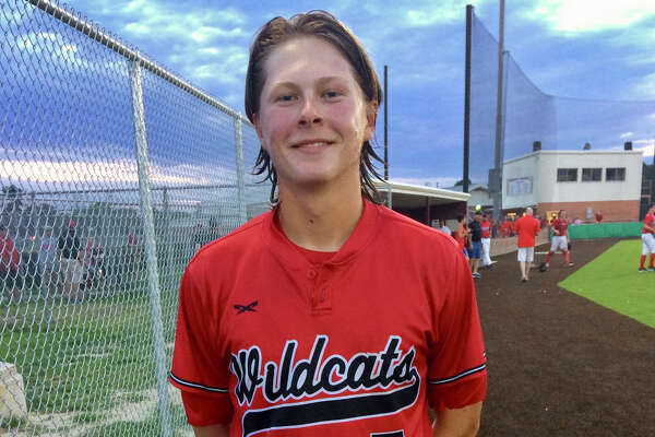 Kirbyville   pitcher Will Rice threw a perfect game, striking out 10 batters on 97 pitches in a 4-0 series-clinching win over West on Friday at Lufkin Hudson High School. (Danny Shapiro/The Enterprise)