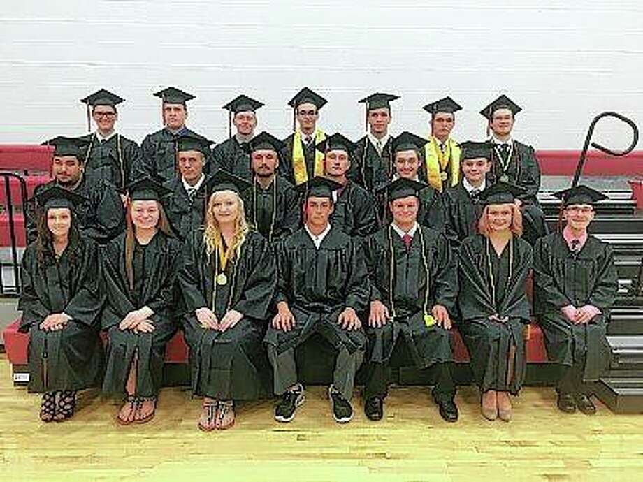 The Virginia High School Class of 2018 poses for a class photo Friday during their commencement ceremony. Photo:     Photo Provided By Jennifer Dodds