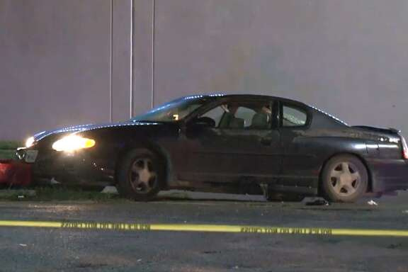 """A Houston Police officer opened fire on a man who tried to run over a woman with his car on Friday night, authorities said. Officers were dispatched just before midnight to a gas station at 9421 Cullen Boulevard for a trespassing call. While interviewing a woman there, a man """"appeared to intentionally"""" hit her and a patrol car,Executive Assistant Chief Troy Finner said."""