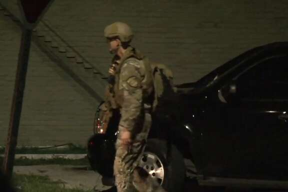 A man who police say barricaded himself inside a south Houston home with two children was arrested after a standoff Saturday morning, police said. Houston Police officers were dispatched for a domestic violence call at a home in the 6600 block of New York Street around 2 a.m.