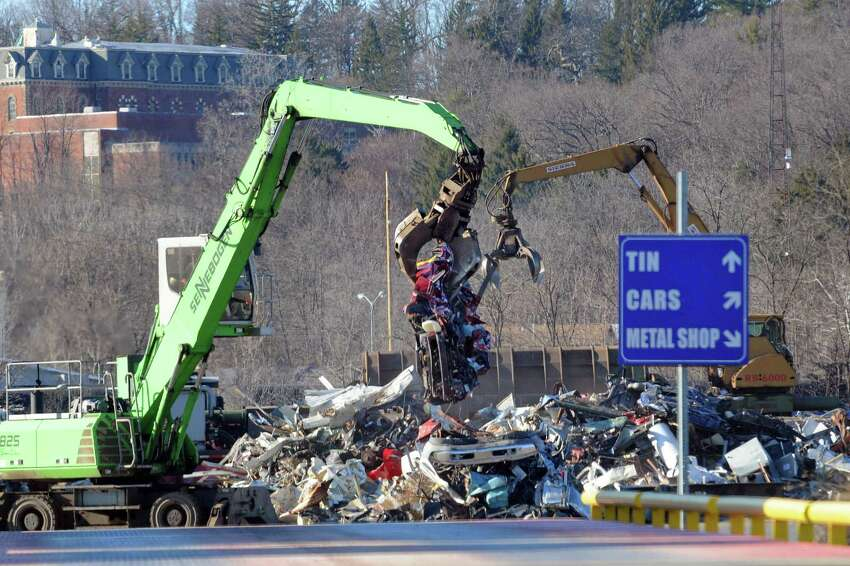 Scrap metal being sorted at the Ben Weitsman Scrap Yard on Thursday Jan. 21, 2016 in Albany, N.Y. (Michael P. Farrell/Times Union)