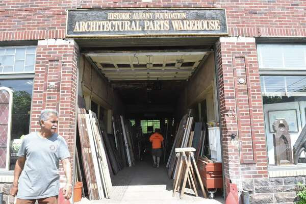 The Albany Historic Foundation held a Sidewalk Open House and Door Sale at their Architectural Parts Warehouse in Albany on Saturday, May 28, 2018. (Massarah Mikati / Times Union)