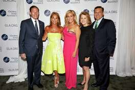 From left to right, Sen. Richard Blumenthal with the honorary event chairs at the gala for the Global Lyme Alliance, Sonya Rolin of Greenwich, Astrid Womble of Greenwich, and Stephanie Ercegovic of Westport along with GLA CEO Scott Santarella at the nonprofit's annual Greenwich Gala on May 12.