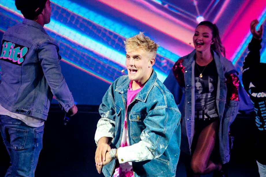 FILE: Entertainer and YouTube personality Jake Paul at San Antonio's Aztec Theater May 25, 2018. Photo: Jason Gains For MySA