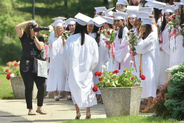 Hamden, Connecticut - May 26, 2018: The Sacred Heart Academy 2018 Commencement Exercises Saturday morning at SHA in Hamden.