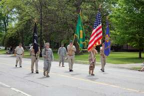 Saturday was a patriotic morning, as crowds lined the streets for the annual Bad Axe Memorial Day Parade. A service to honor fallen veterans followed at noon at the memorial near the Huron County Building.