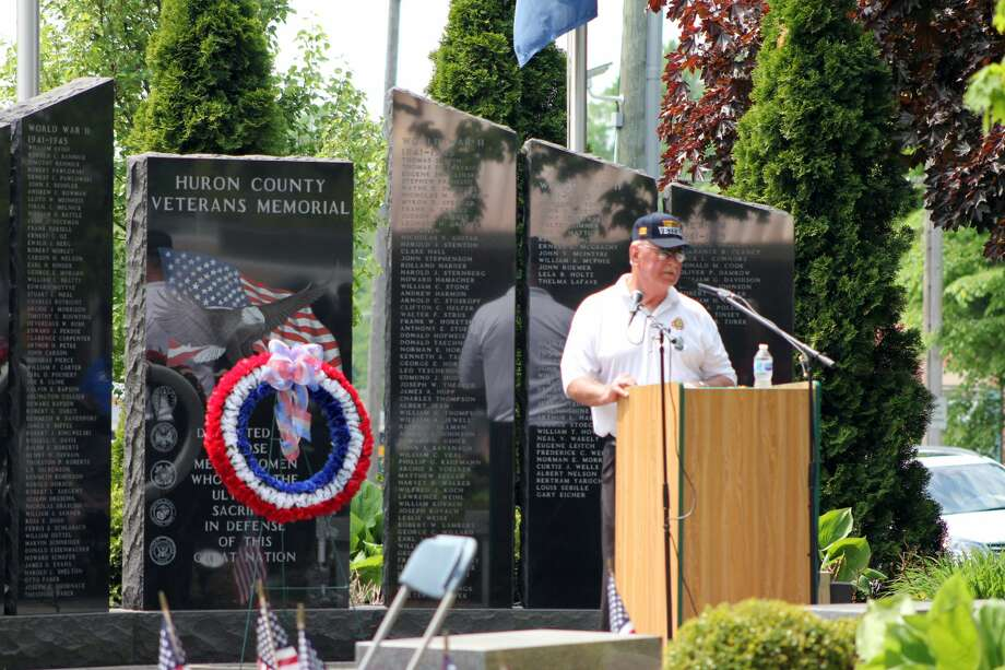 Saturday was a patriotic morning, as crowds lined the streets for the annual Bad Axe Memorial Day Parade. A service to honor fallen veterans followed at noon at the memorial near the Huron County Building. Photo: Brenda Battel Huron Daily Tribune