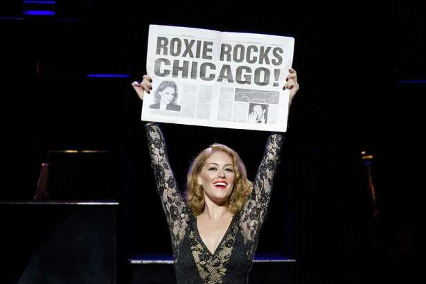 "Dylis Croman as Roxie Hart in ""Chicago."""