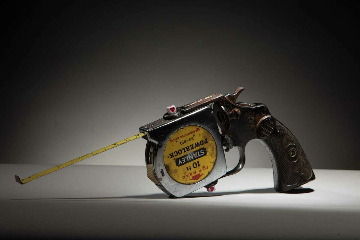 "Luis Cruz Azaceta's ""Taperuler Gun,"" made from a decommissioned handgun."