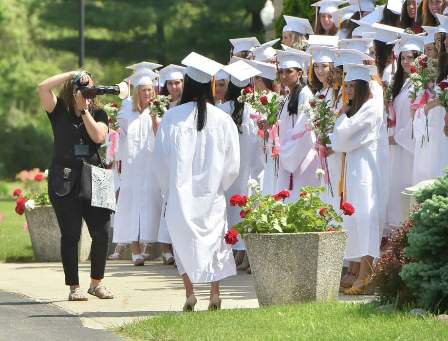 Hamden, Connecticut - May 26, 2018: The Sacred Heart Academy  2018 Commencement Exercises Saturday morning at SHA in Hamden. Photo: Peter Hvizdak / Hearst Connecticut Media / New Haven Register