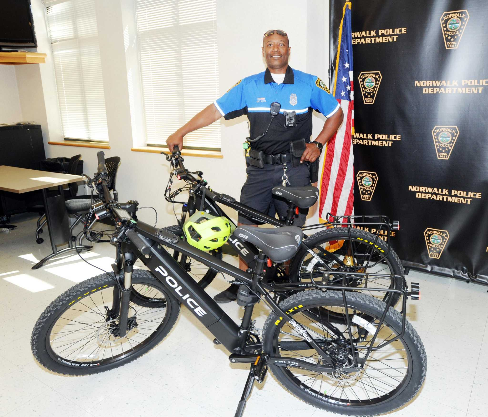 Norwalk Police Roll Out Electric Mountain Bikes