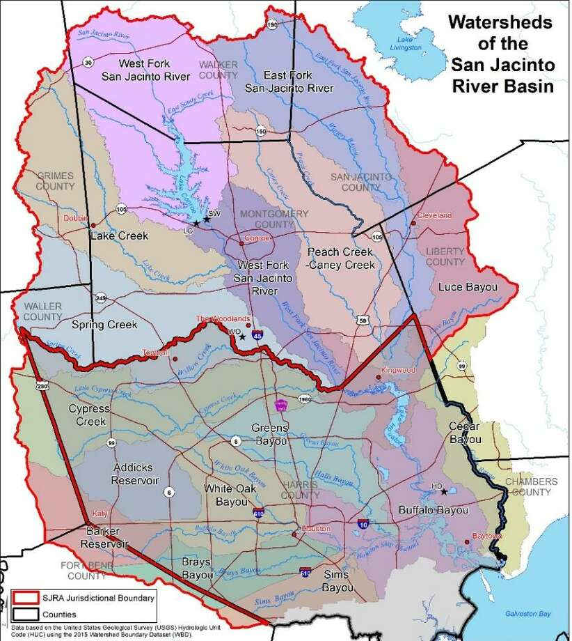 The San Jacinto River Authority Watershed. Photo: SJRA