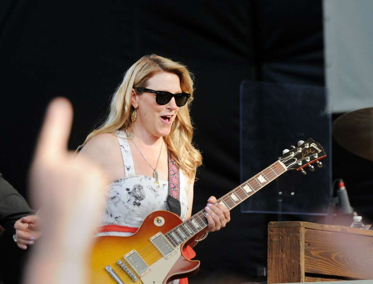 Susan Tedeschi of the Tedeschi Trucks Band performs during the Greenwich Town Party at Roger Sherman Baldwin Park in Greenwich, Conn., Saturday, May 26, 2018. The annual outdoor concert event and party is in its eighth year and regularly draws more than 8,000 people throughout the day at the waterfront park that overlooks Greenwich Harbor.