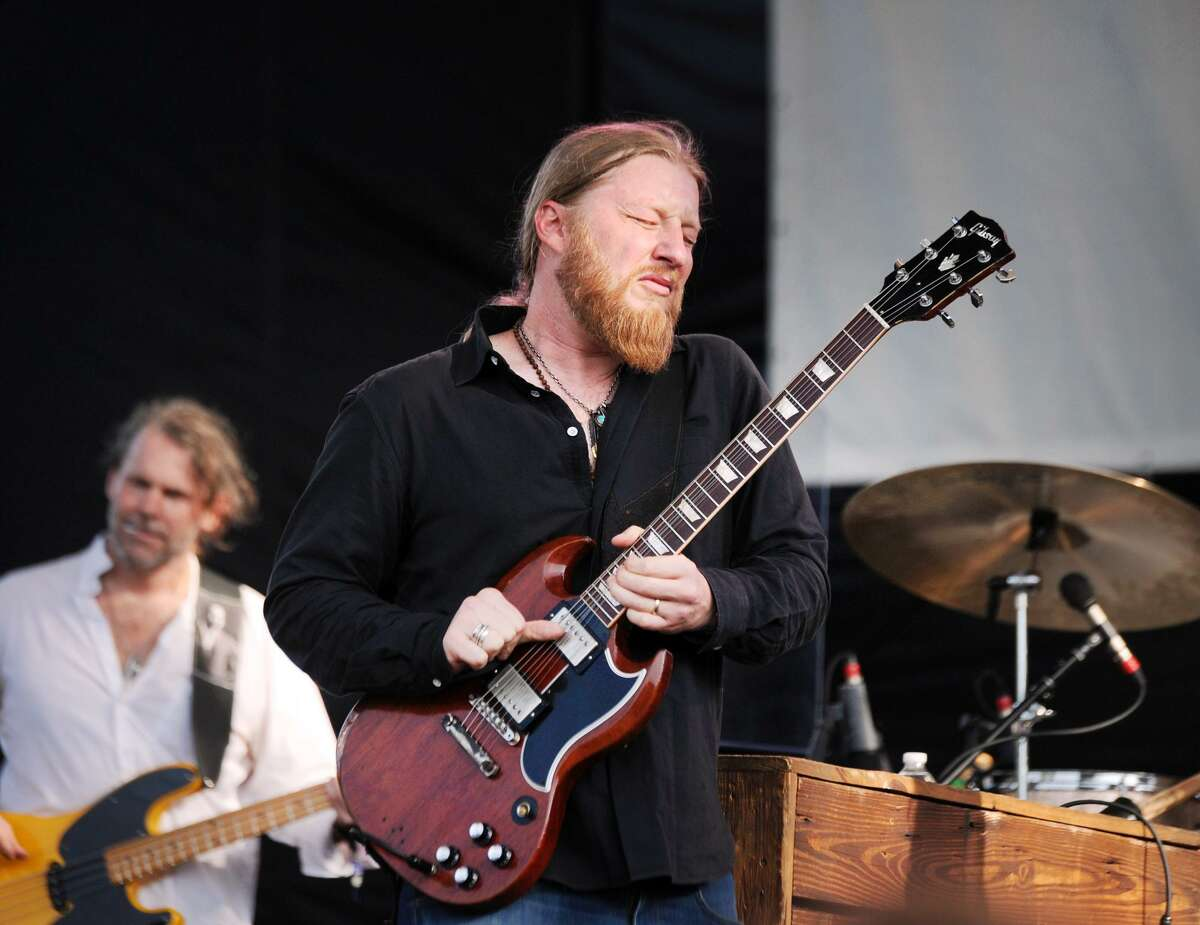 Derek Trucks of the Tedeschi Trucks Band during the Greenwich Town Party at Roger Sherman Baldwin Park in Greenwich, Conn., Saturday, May 26, 2018. The annual outdoor concert event and party is in its eighth year and regularly draws more than 8,000 people throughout the day at the waterfront park that overlooks Greenwich Harbor.