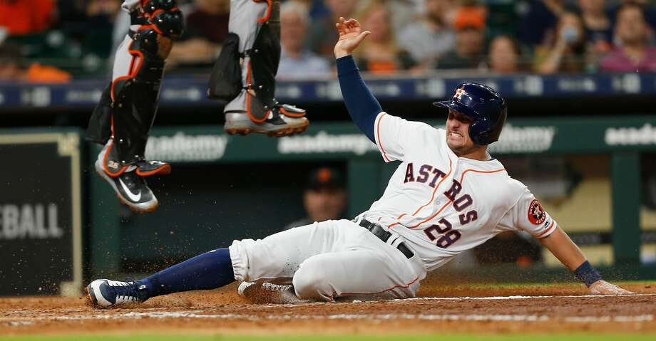 PHOTOS: Astros game-by-game J.D. Davis slashed .415/.473/.674 in 130 at-bats at Class AAA Fresno prior to his promotion. Browse through the photos to see how the Astros have fared through each game this season. Photo: Bob Levey/Getty Images