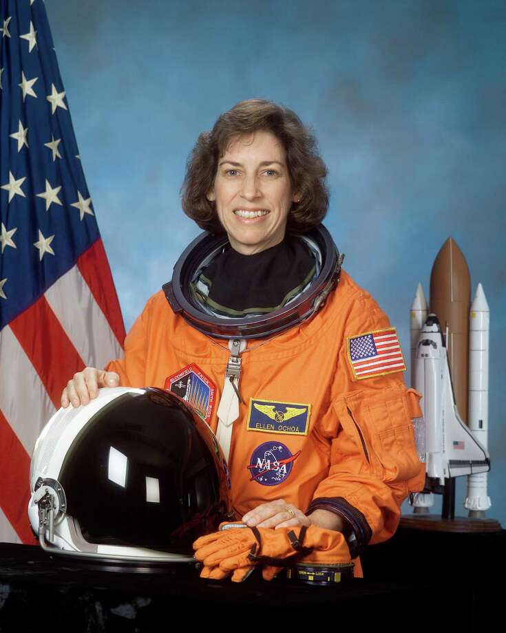 Ellen Ochoa, STS-110 mission specialist, taken February 2002. Photo: Courtesy Of NASA