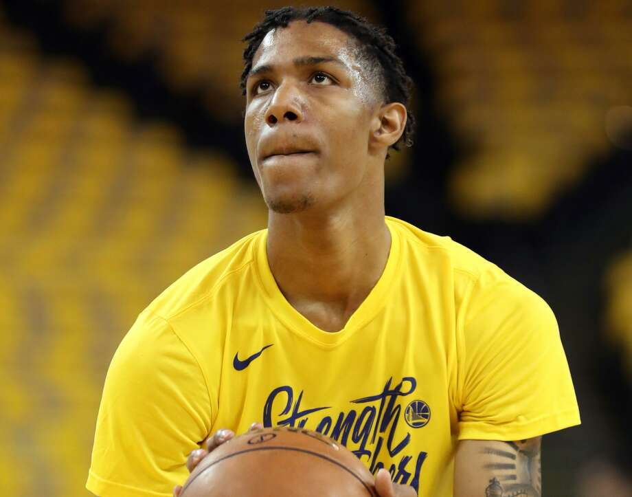 Golden State Warriors' Patrick McCaw warms up before Warriors play Houston Rockets in Game 6 of NBA Western Conference Finals at Oracle Arena in Oakland, CA on Wednesday, May 26, 2018. Photo: Scott Strazzante / The Chronicle / San Francisco Chronicle