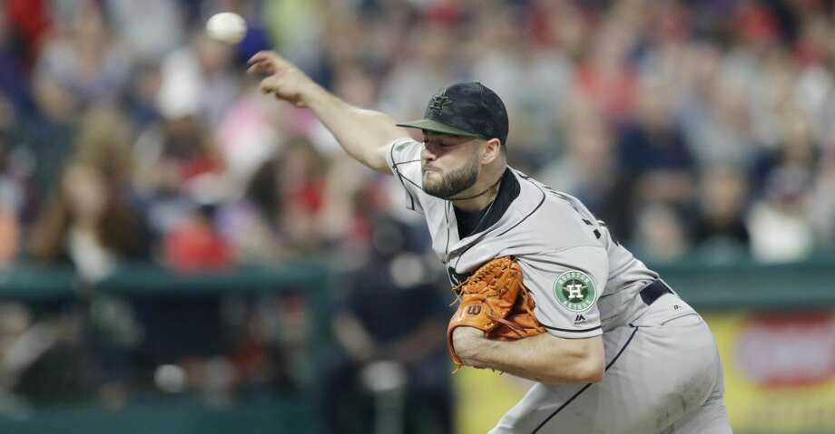 Houston Astros starting pitcher Lance McCullers Jr. delivers in the fifth inning of a baseball game against the Cleveland Indians, Saturday, May 26, 2018, in Cleveland. (AP Photo/Tony Dejak) Photo: Tony Dejak/Associated Press