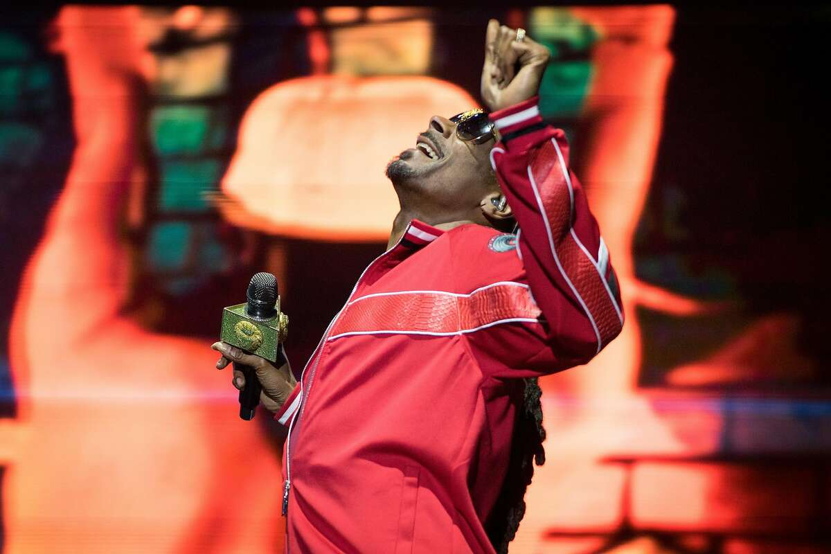 Snoop Dogg performs on the Midway stage at the BottleRock Music Festival in Napa, Calif. on Saturday, May 26, 2018.