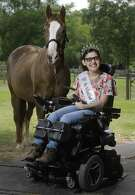 """With a platform theme of """"Rolling Together to Success,"""" Ms. Wheelchair Gulf Coast USA Yessenia Luna of Cypress, who has cerebral palsy, will compete in the Ms. Wheelchair USA pageant this summer. Luna volunteers at SIRE Therapeutic Horsemanship, where she rides Broadway, in Hockley. She plans to study fashion design as a college freshman in the fall."""
