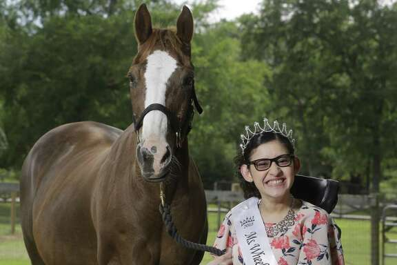 "With a platform theme of ""Rolling Together to Success,"" Ms. Wheelchair Gulf Coast USA Yessenia Luna of Cypress, who has cerebral palsy, will compete in the Ms. Wheelchair USA pageant this summer. Luna volunteers at SIRE Therapeutic Horsemanship, where she rides Broadway, in Hockley. She plans to study fashion design as a college freshman in the fall."