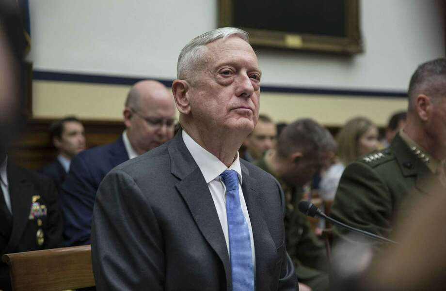 Defense Secretary Jim Mattis at a House Armed Services Committee hearing in Washington on April 12, 2018. Photo: Bloomberg Photo By Toya Sarno Jordan. / © 2018 Bloomberg Finance LP