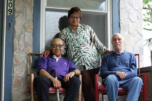 "Joann West calls taking care of Vietnam War veterans Ralph Stepney, left, and Frank Hundt at her home in Baltimore a ""joy."""