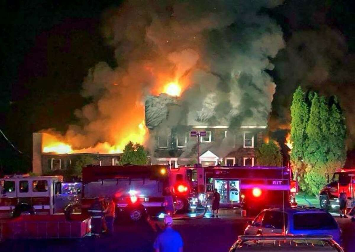 The Ticonderoga Golf Course's club house was destroyed by a massive fire on Saturday, May 26, 2018. (Courtesy of Plattsburgh Press-Republican)