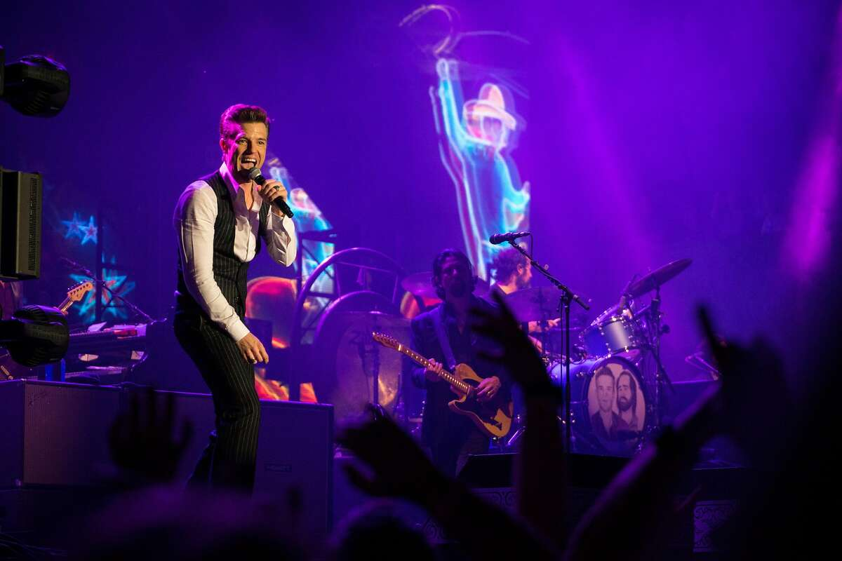 Brandon Flowers of The Killers performs at the BottleRock Music Festival in Napa, Calif. on Saturday, May 26, 2018.