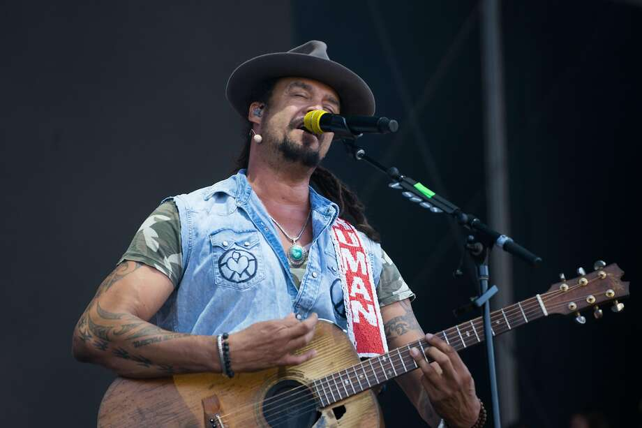 FILE - Michael Franti performs at the JaM Cellars stage at BottleRock Music Festival in Napa in this May 26, 2018 file photo. He will perform at Glide Memorial Church on Sunday.  Click through to see other recent celebrity sightings in the Bay Area. >>> Photo: Sarahbeth Maney, Special To The Chronicle