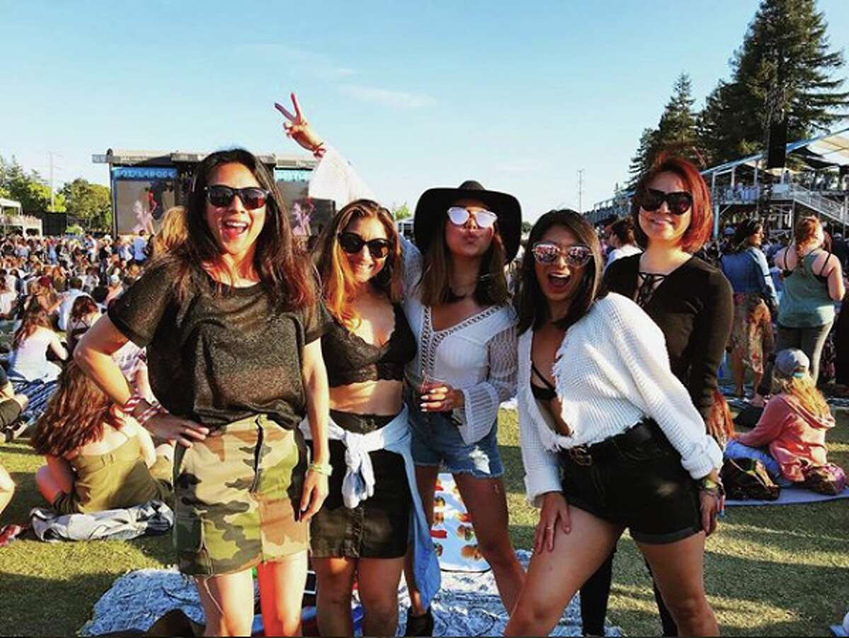 Attendees show off festival fashion at BottleRock Napa Valley music festival.