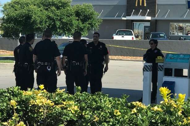 San Antonio police continue to search for a suspect they say shot a man in the parking lot of a West Side convenience Sunday afternoon, May 27, 2018.