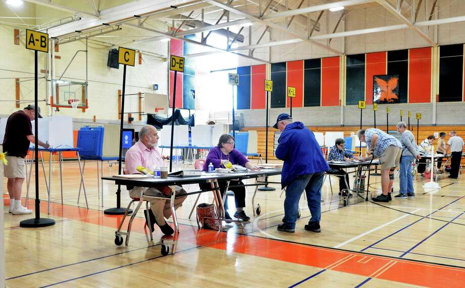 Voters turn out for the school budget vote at Bethlehem High School Tuesday May 15, 2018 in Bethlehem, NY.  (John Carl D'Annibale/Times Union) Photo: John Carl D'Annibale / 20043779A