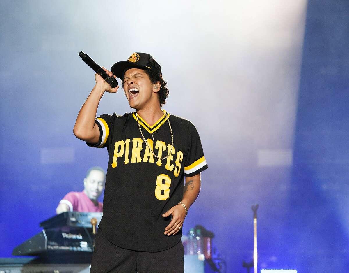 Bruno Mars performed a headlining set Sunday, May 27 at BottleRock Napa Valley.